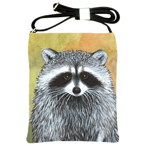 Shoulder Sling Bag Purse from art painting Raccoon 15