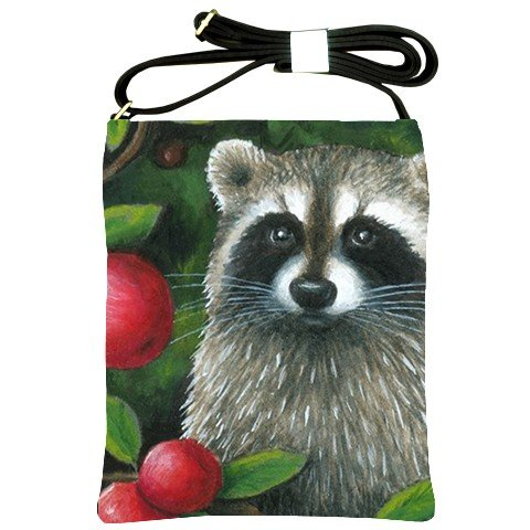 Shoulder Sling Bag Purse from art painting Raccoon 17