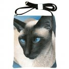 Shoulder Sling Bag Purse from art painting Siamese Cat