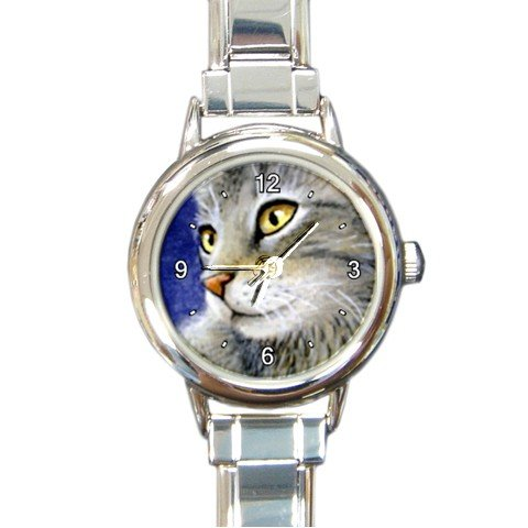 Round Italian Charm Watch from art painting Cat 61