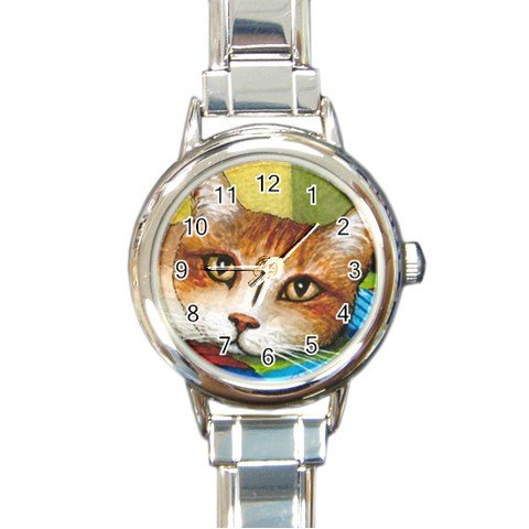 Round Italian Charm Watch from art painting Cat 251