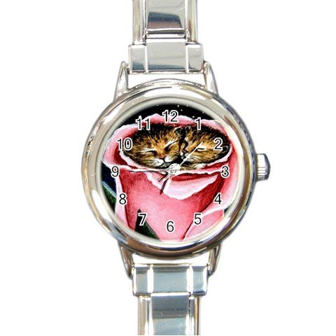 Round Italian Charm Watch from art painting Cat 259