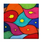 Ceramic Tile Coaster from art painting Abstract 3