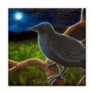 Ceramic Tile Coaster from art painting Bird 61 Crow raven