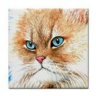 Ceramic Tile Coaster from art painting Cat 341