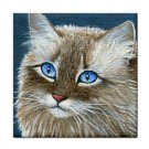 Ceramic Tile Coaster from art painting Cat 390