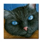 Ceramic Tile Coaster from art painting Cat 414