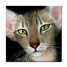 Ceramic Tile Coaster from art painting Cat 427 Oriental