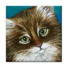 Ceramic Tile Coaster from art painting Cat 462