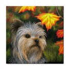 Ceramic Tile Coaster from art painting Dog 78 Yorkshire