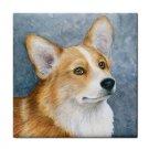 Ceramic Tile Coaster from art painting Dog 89 Pembroke Welsh Corgi
