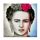 Ceramic Tile Coaster from art painting Frida Kahlo 17