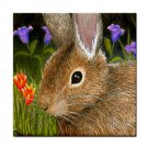 Ceramic Tile Coaster from art painting Hare 34 Rabbit