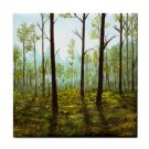 Ceramic Tile Coaster from art painting Landscape 145 Forest