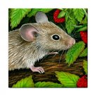 Ceramic Tile Coaster from art painting Mouse 10