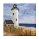 Ceramic Tile Coaster from art painting Sea View 222 Lighthouse
