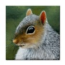 Ceramic Tile Coaster from art painting Squirrel 16