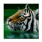 Ceramic Tile Coaster from art painting Tiger in Water