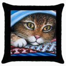 Throw Pillow Case from art painting Cat 258