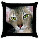Throw Pillow Case from art painting Cat 427 Oriental