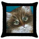 Throw Pillow Case from art painting Cat 462