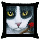 Throw Pillow Case from art painting Cat 542 Ladybug