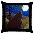Throw Pillow Case from art painting Cat 544