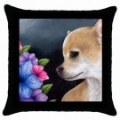 Throw Pillow Case from art painting Dog 77 Chihuahua Flower