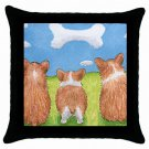Throw Pillow Case from art painting Dog 64 Corgi