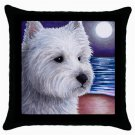 Throw Pillow Case from art painting Dog 81 Westie West Highland