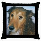 Throw Pillow Case from art painting Dog 87