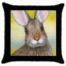 Throw Pillow Case from art painting Hare 29 Rabbit