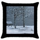 Throw Pillow Case from art painting Landscape 308 Winter