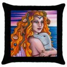 Throw Pillow Case from art painting Mermaid 13 Dolphin