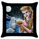 Throw Pillow Case from art painting Mermaid 14 Dolphin