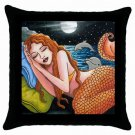 Throw Pillow Case from art painting Mermaid 42 Dolphin