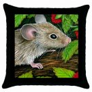 Throw Pillow Case from art painting Mouse 10