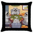 Throw Pillow Case from art painting Raccoon 16 Dinner
