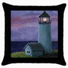 Throw Pillow Case from art painting Sea View 225 Lighthouse