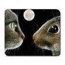 Mousepad Mat pad from art painting Cat 413 Hare Rabbit