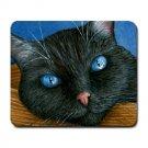 Mousepad Mat pad from art painting Cat 414 Black Cat