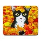 Mousepad Mat pad from art painting Cat 447 Fall Autumn
