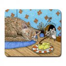 Mousepad Mat pad from art painting Cat 490 Mouse Funny