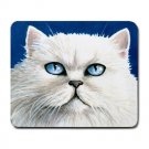 Mousepad Mat pad from art painting Cat 502 White Persian