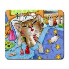 Mousepad Mat pad from art painting Cat 508 Mouse Make-up Funny