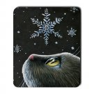 Mousepad Mat pad from art painting Cat 532 Snow Flake Winter