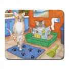 Mousepad Mat pad from art painting Cat 538 Cat in Litter Funny