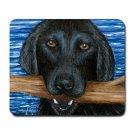 Mousepad Mat pad from art painting Dog 41 Black Labrador