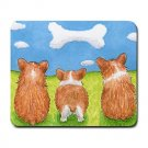 Mousepad Mat pad from art painting Dog 64 Corgi Funny
