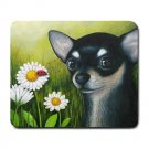 Mousepad Mat pad from art painting Dog 79 Chihuahua Flower Ladybug